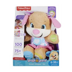 FISHER PRICE ΕΚΠΑΙΔΕΥΤΙΚΟ ΣΚΥΛΑΚΙ SMART STAGES-ΡΟΖ  FPP82