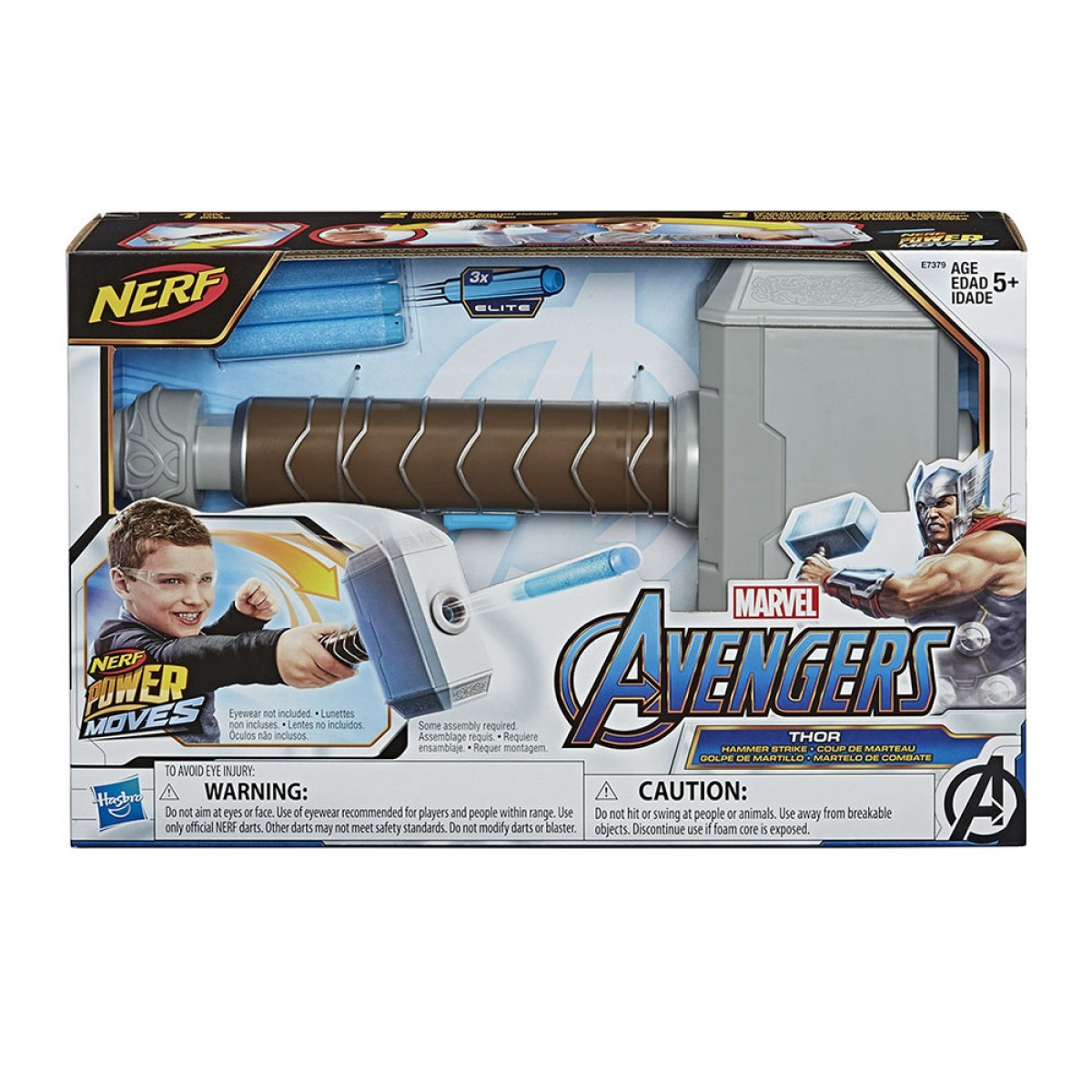 NERF AVENGERS POWER MOVES ROLE PLAY THOR  E7379