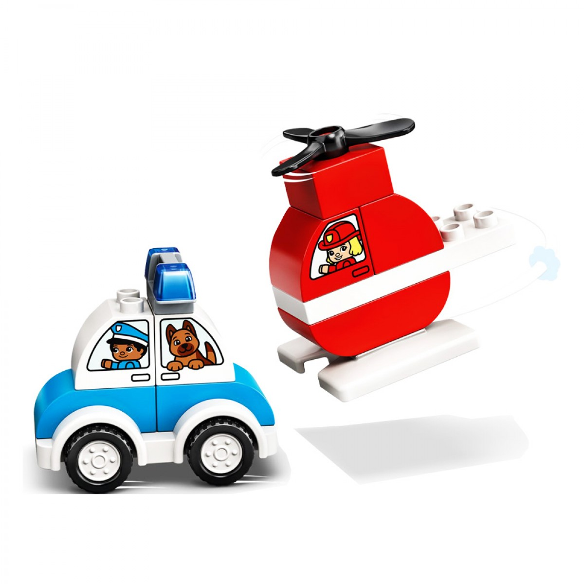 LEGO FIRE HELICOPTER & POLICE CAR 10957