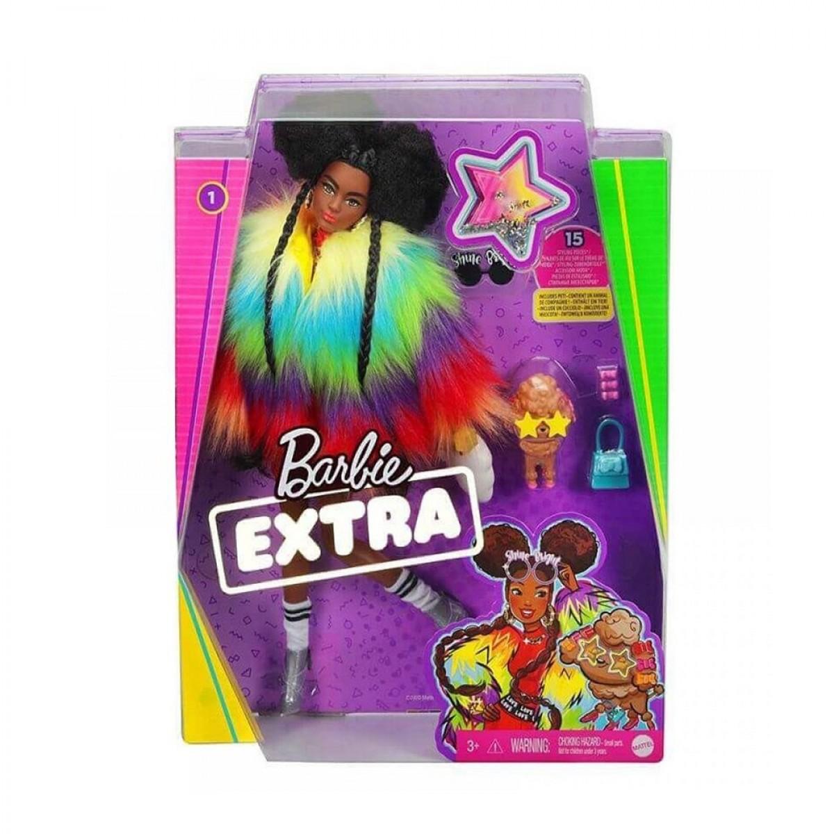 BARBIE EXTRA-RAINBOW COAT  GVR04