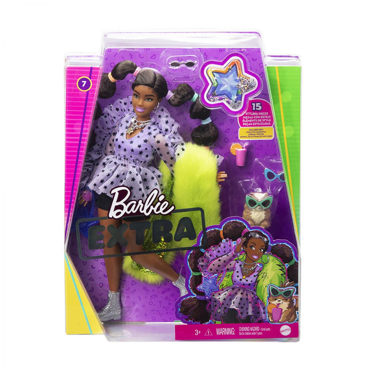 BARBIE EXTRA BOBBLE HAIR GXF10